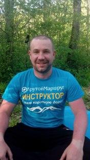 Николай Богомаз. В майке инструктора в горах Геленджика.