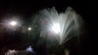 Гатчинские Гейзеры ночью