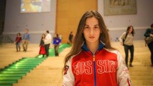 Инструктор Анастасия Филиппова на соревнованиях.