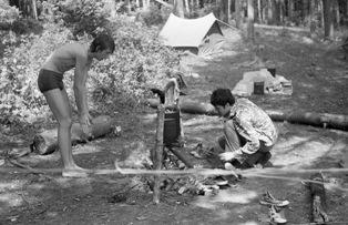 Готовка на костре в прошлом веке