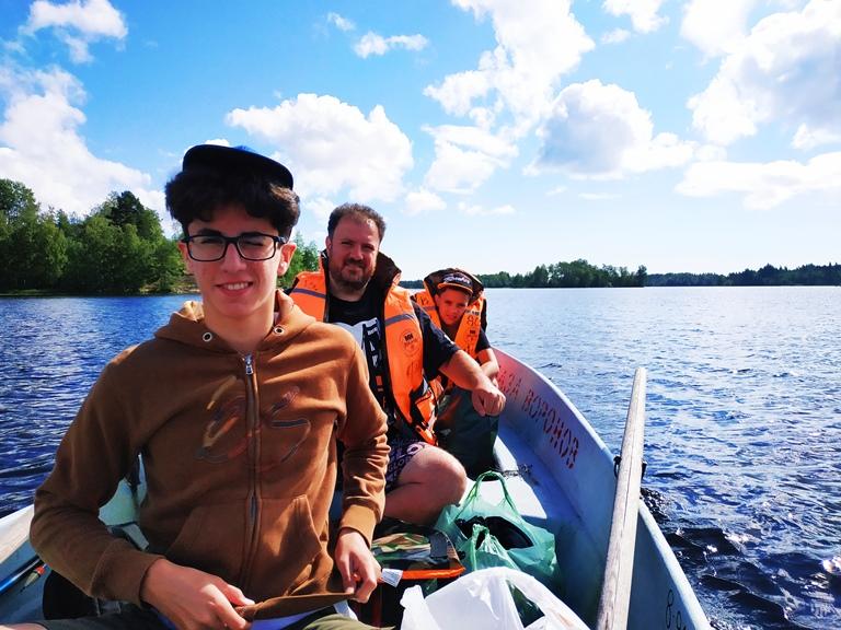 Фото из похода по Ладожским шхерам на моторных лодках