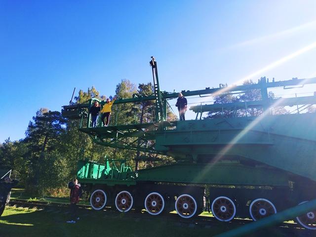 Поезд на форте Красная Горка
